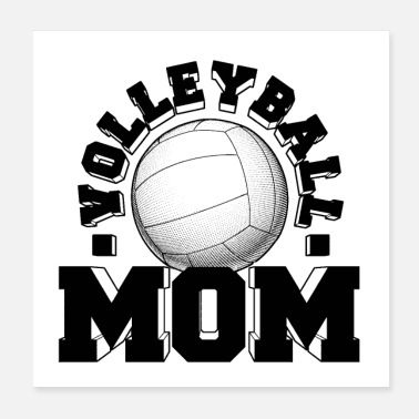 Volley Volleyball Mom Old School Gift Ideas - Poster