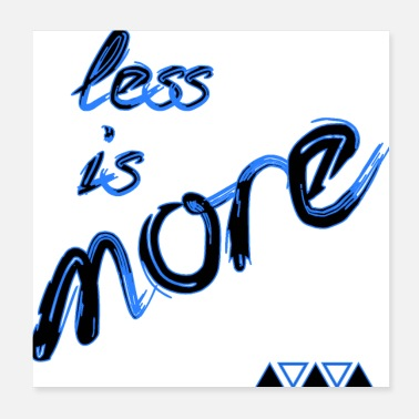 Minimum less is more - Poster