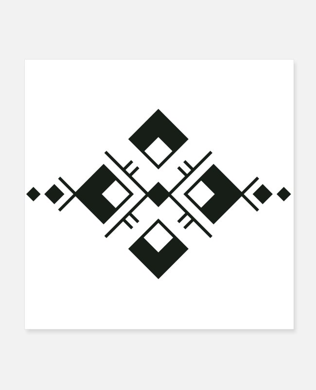 Pattern Posters - Aztec ornament - Posters white