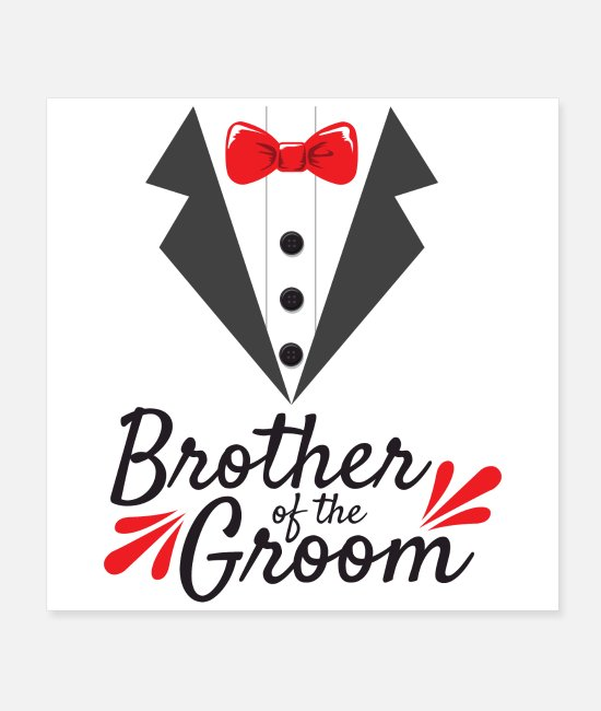 Engagement Posters - Bachelor Party Wedding Brother Of The Groom Gift - Posters white