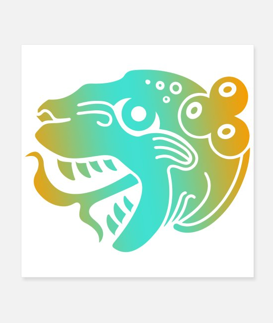 Mexican Posters - Mayan Tribal Tattoo Jaguar Gift Idea - Posters white