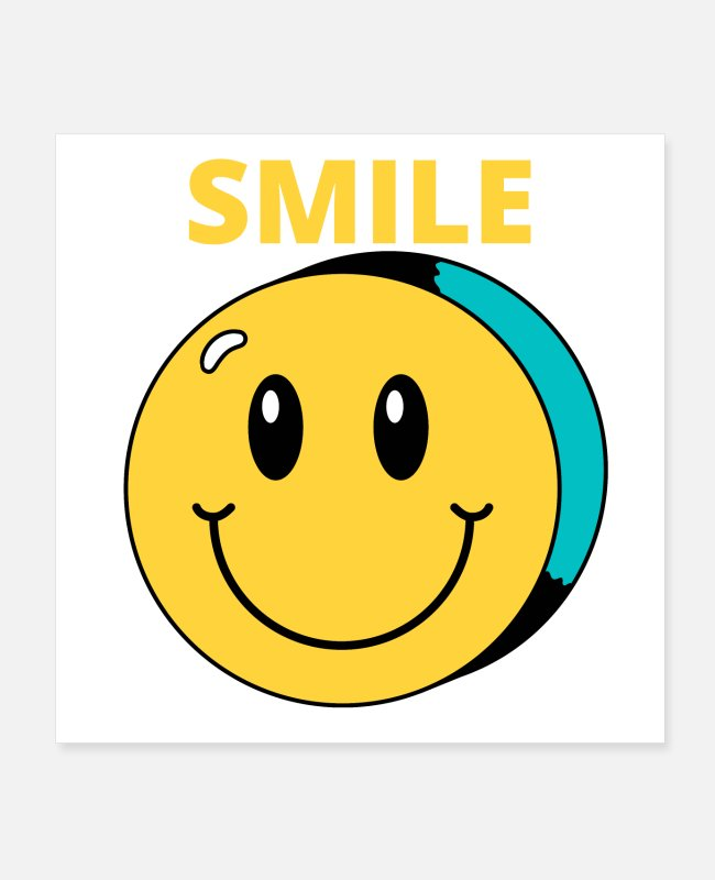 2d Posters - Retro SMILE - Posters white
