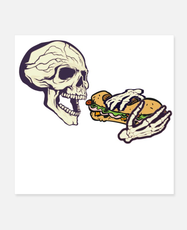 Sandwich Posters - Deathly Cravings: Hoagie - Posters white