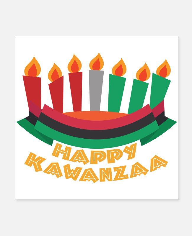 Happy Holidays Posters - Happy kwanza Religious African Cultural Festival - Posters white