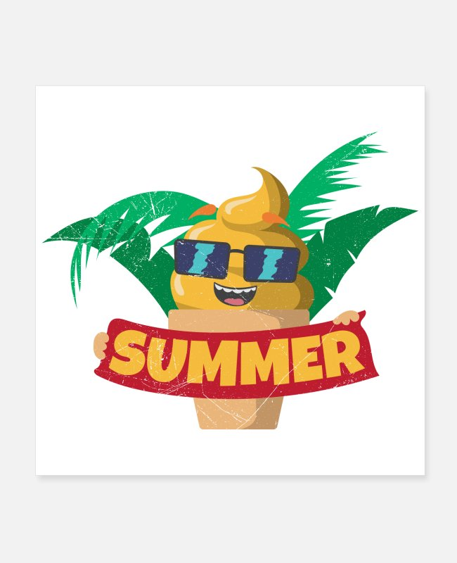 Vacation Posters - Ice Cream Summer Kids Gift Idea - Posters white