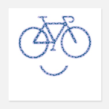 Bicyclette Bike with a smile - Poster