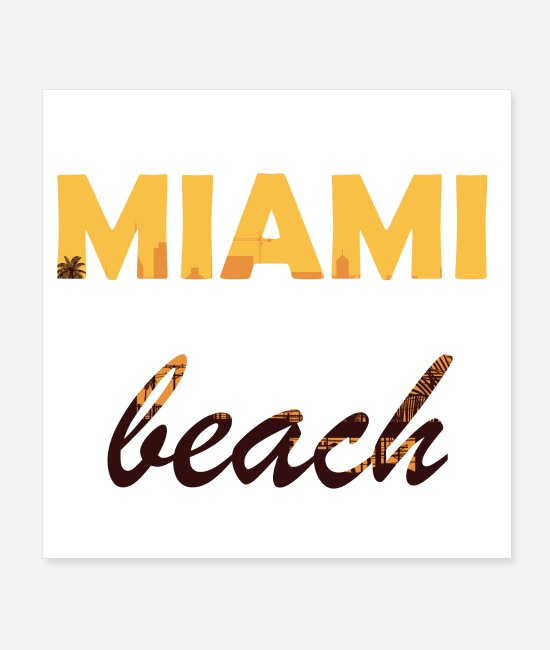Water Posters - miami beach - Posters white