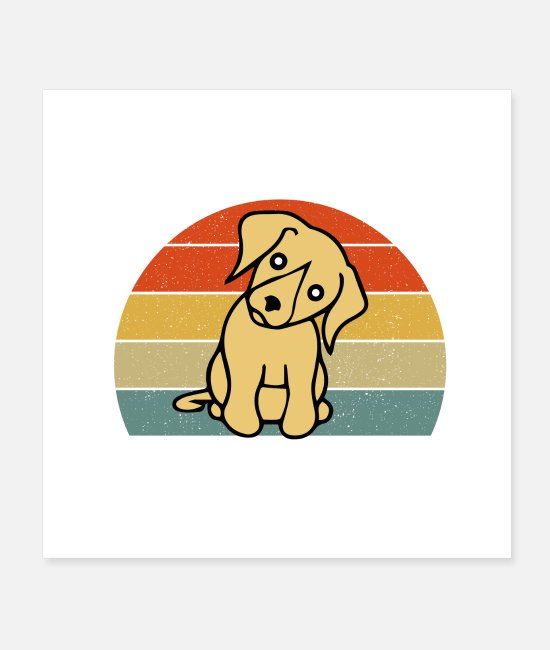 Dog Owner Posters - Life is Golden retriever | Gift for dog lovers - Posters white