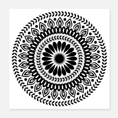 Ornamental Mandala Ornament - Poster