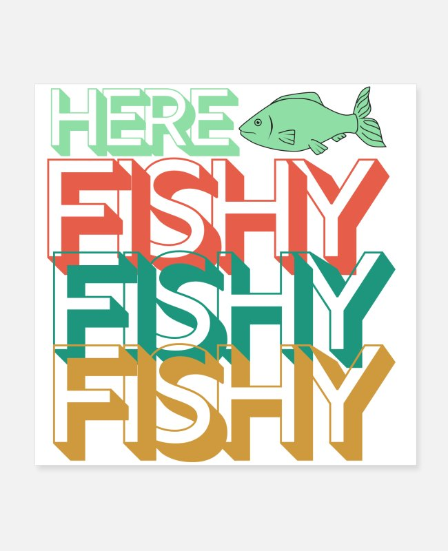 Quote Posters - fishing quote - Posters white