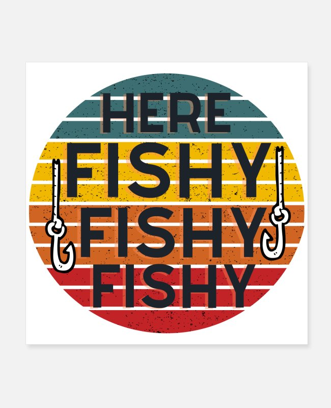 Fish Hook Posters - Fishing saying - Posters white