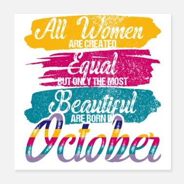 Birthday Saying Birthday Saying All Women Created Equal Vintage - Poster