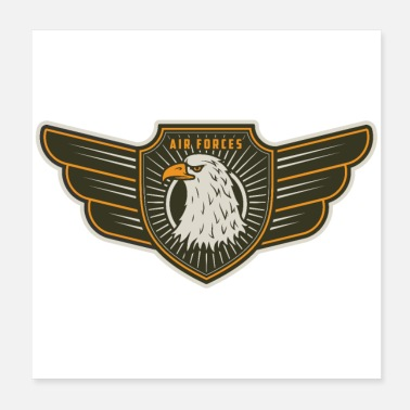 Air Air Force Wings - Poster