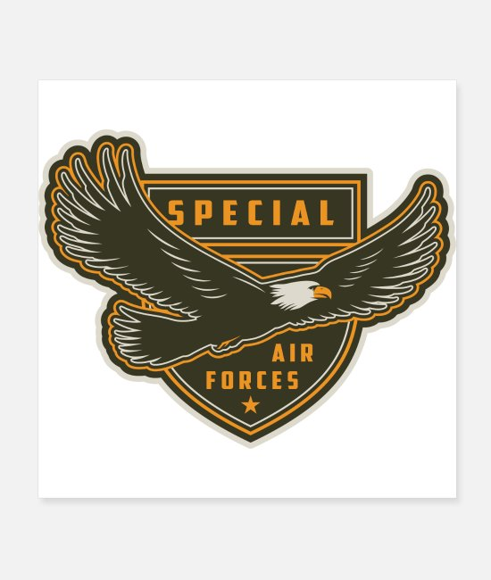 Army Fiancee Posters - Air Force Eagle Shield - Posters white