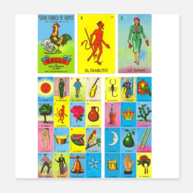 Mexican Loteria Mexican - Poster