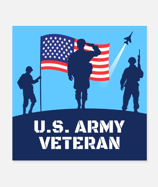 Honor Posters - U.S. Army Veteran - Posters white