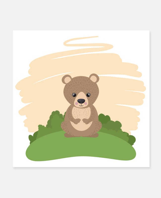Design Posters - Cute Bear - Posters white