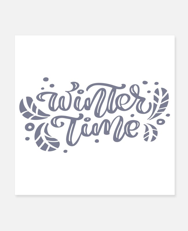 Winter Posters - Winter Time (grey) - Posters white