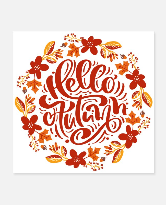 Design Posters - Hello Autumn - Posters white