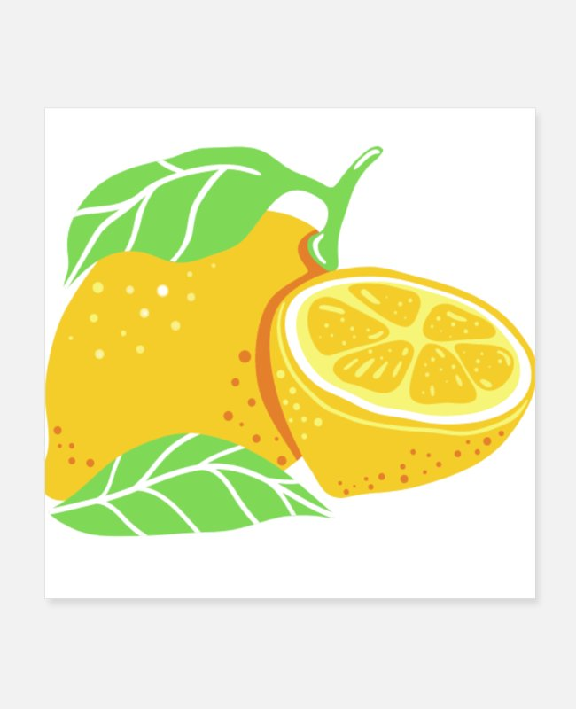Fruit Images Of Posters - Cute Fruit - Posters white