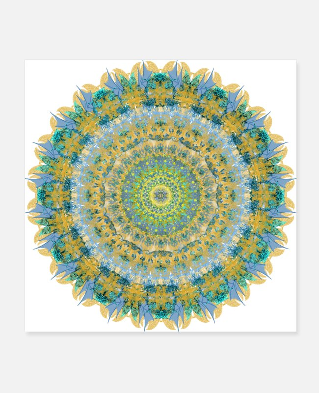 Inti Posters - N Kaleidoscope 33 Inti El Dios Del Sol - Posters white