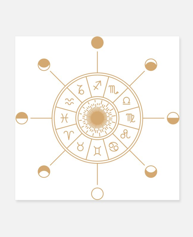 Léo Posters - The Zodiac signs & Moon phases - Posters white