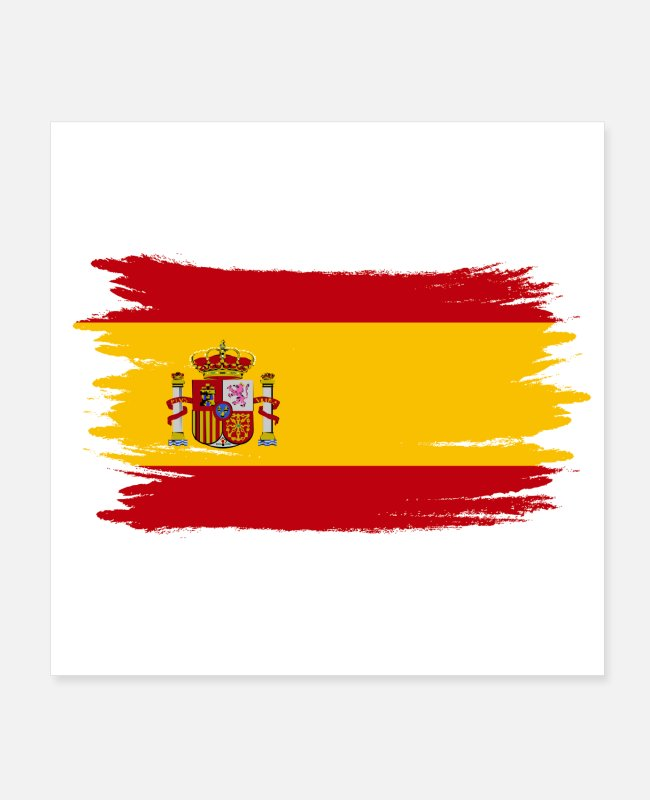 British Flag Posters - Spain spanish - Posters white