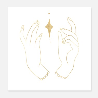 Horoscopes hands star celestial horoscope spiritual - Poster