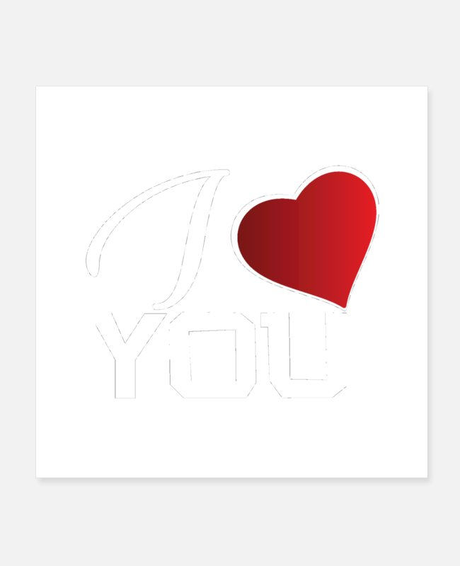 Born In Posters - I love you - Posters white