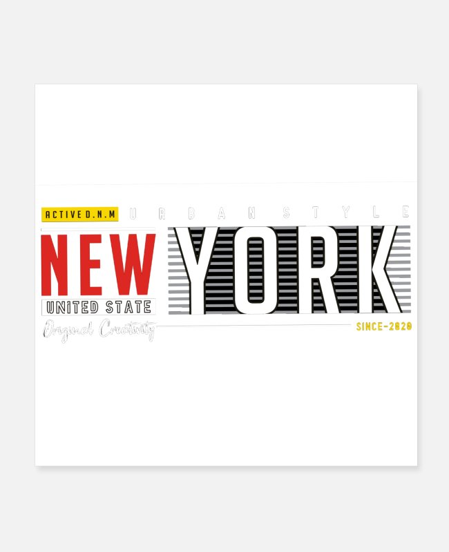 New Zealand Posters - New york - Posters white