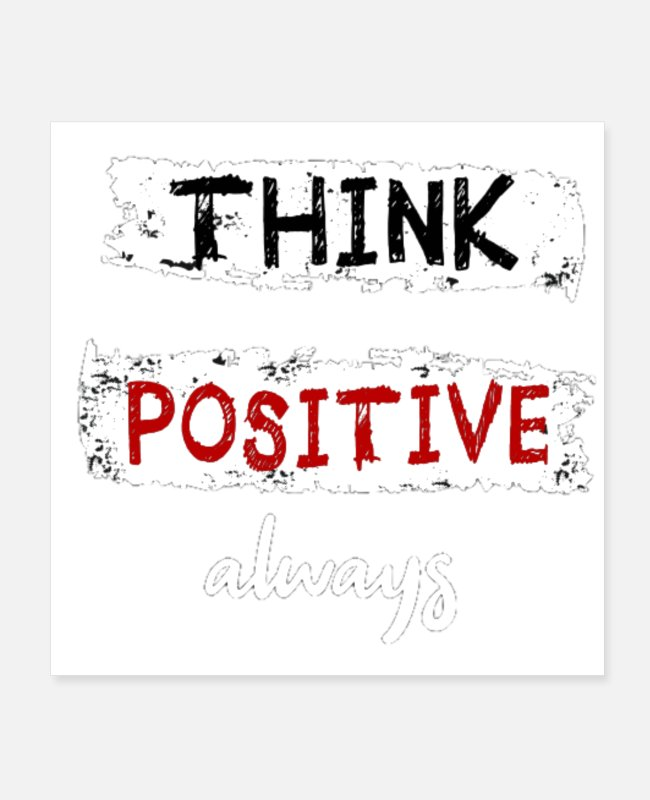 Bumble Bee Posters - Think positive - Posters white