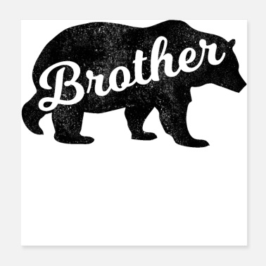 Grizzly Bears Brother Grizzly Bear Distressed - Poster