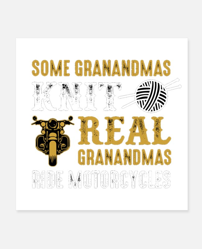 Capricorn Posters - Knit grandma - Posters white