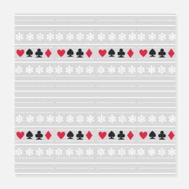 Omaha Poker and Snowflakes pattern - Poster
