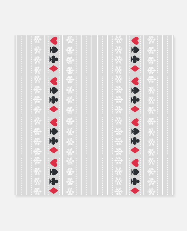 Omaha Posters - poker and snowflakes christmas - Posters white