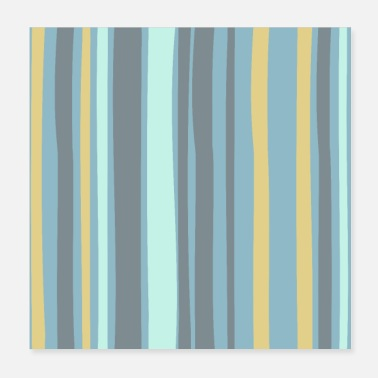 Bright Colors Modern Bright Colorful Stripes Pattern - Poster