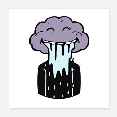 Live Cloud Person And A Cloud Rain Head - Poster