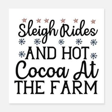 Hotline Sleigh Rides And Hot Cocoa At The Farm - Poster