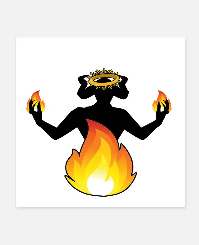 Pyro Posters - Balthazar Crowned amongst flames - Posters white