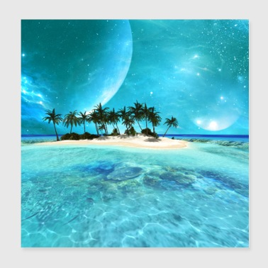 Beautiful tropical island - Poster 8x8