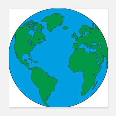 North America Mother Earth home and blue planet with America - Poster
