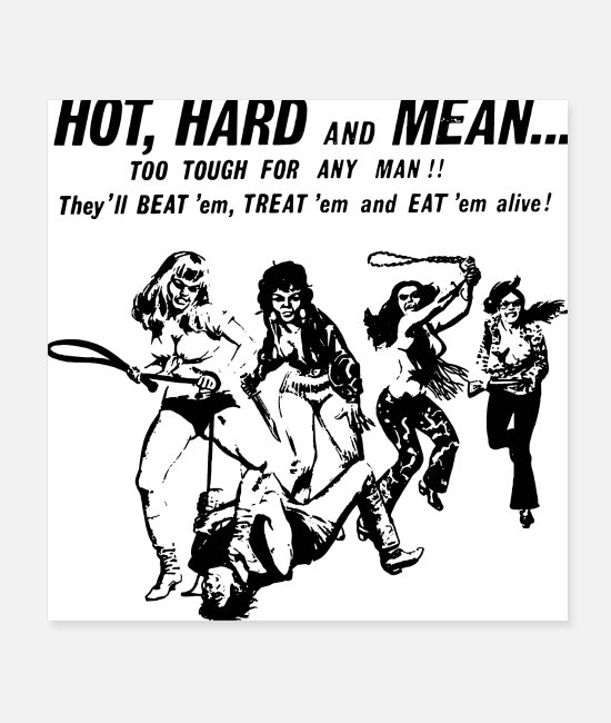 Retro 70s Posters - HOT HARD MEAN - Posters white