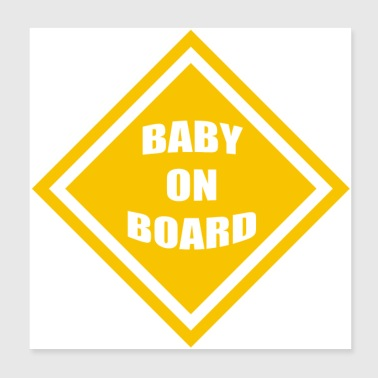 baby on board - Poster 8x8