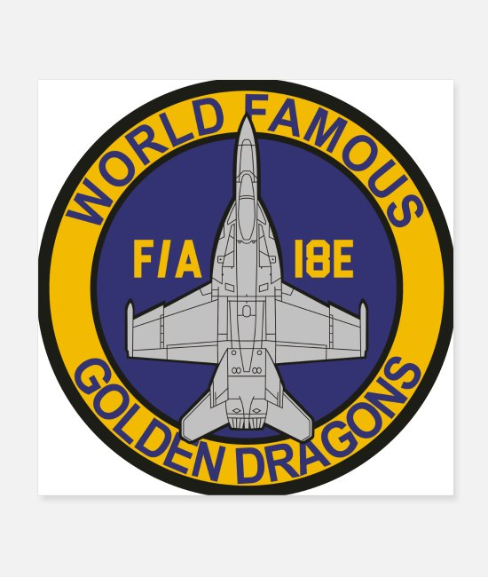 Navy Posters - F/A-18 Rhino VFA-192 Golden Dragons - Posters white