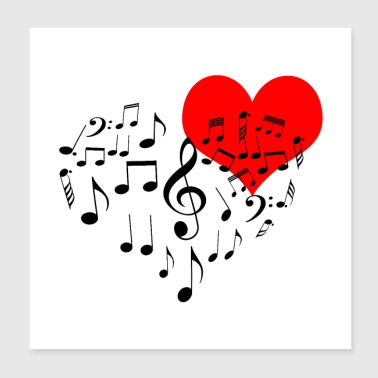 Singing Heart - Poster 8x8