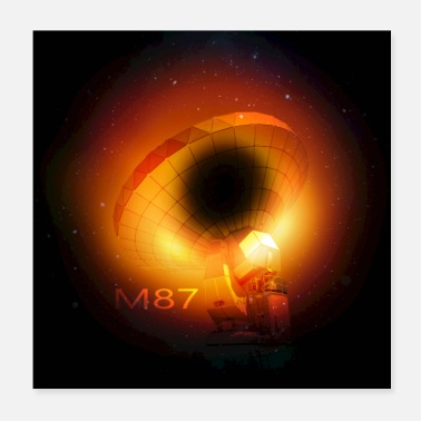 Black hole with telescope - Poster