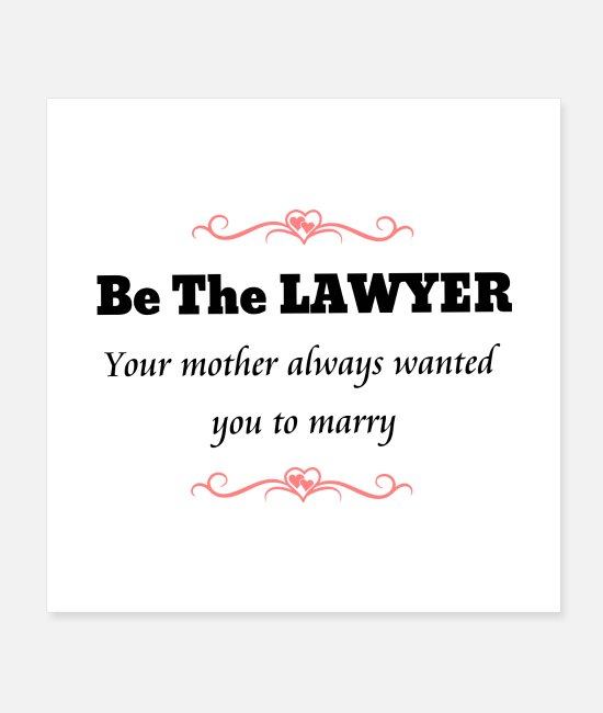 Womens Posters - Feminist Lawyer Attorney at Law - Posters white