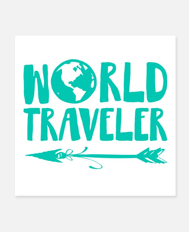 Arrow Posters - World Traveler - Posters white