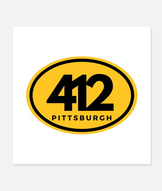 Pittsburgh 412 Posters - Pittsburgh 412 Steeler Nation Shirts Pennsylvania - Posters white