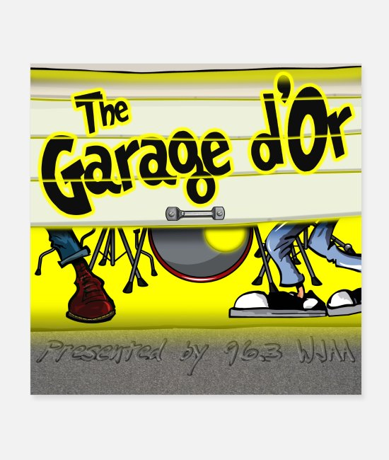 Graphic Art Posters - Garage d Or graphic 2B - Posters white